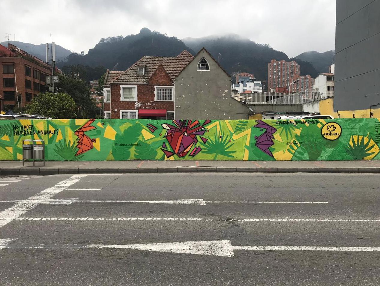 murales con pintura fotocatalítica, pintura que absorbe co2 murales urbanos bambu sustentable murales ecologicos NATURA COLOMBIA1
